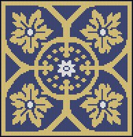 Blue and Gold Tile
