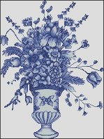 Delft Blue Vase - Medium Large